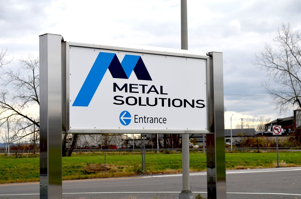 Metal Solutions, Inc. entrance sign