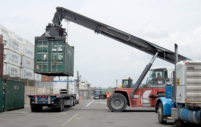 Loading Cargo Container